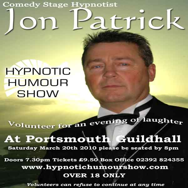 Portsmouth Guildhall, Hypnotic Humour Show,20th March 2010
